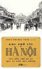 Khu phố tây ở Hà Nội nửa đầu thế kỷ XX qua tư liệu địa chính